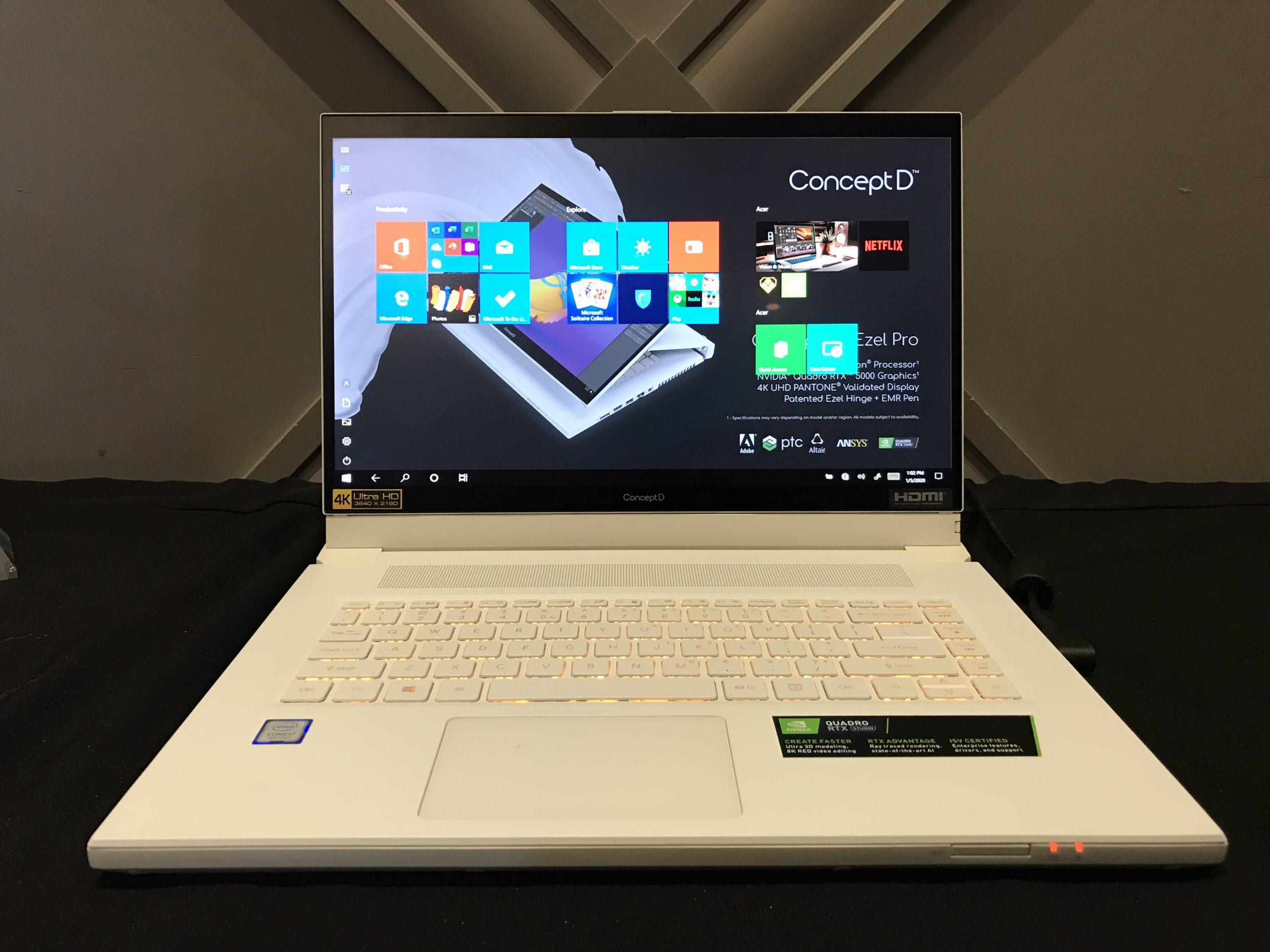 Acer ConceptD 7 Pro notebook teszt