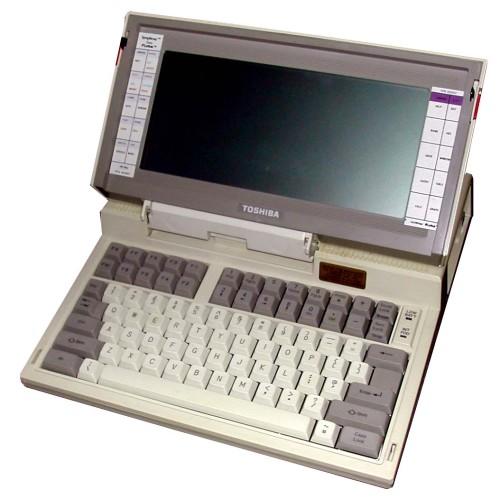 Toshiba T1100 a világ első notebook-ja
