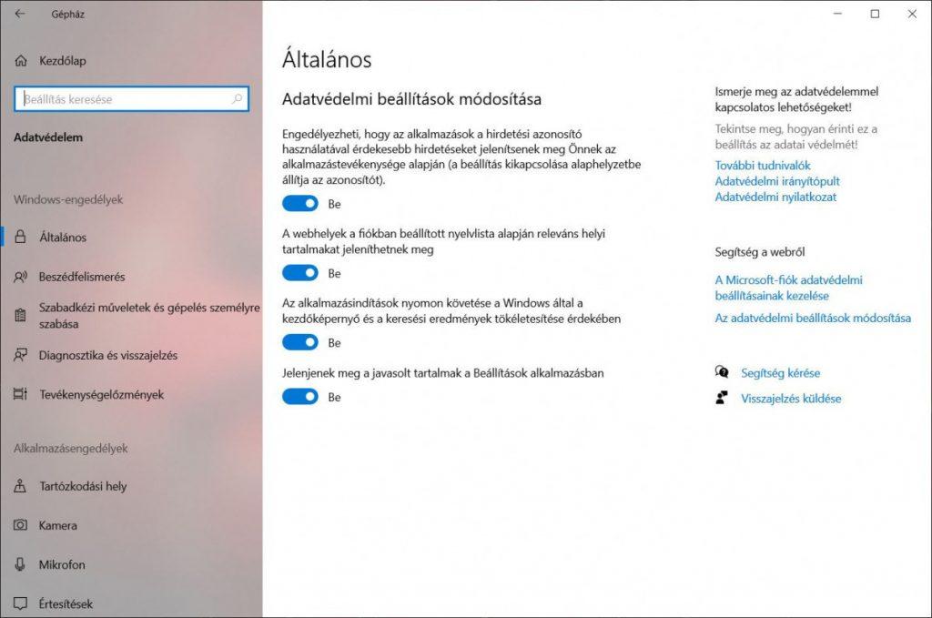 Windows 10 - helyfelismerés