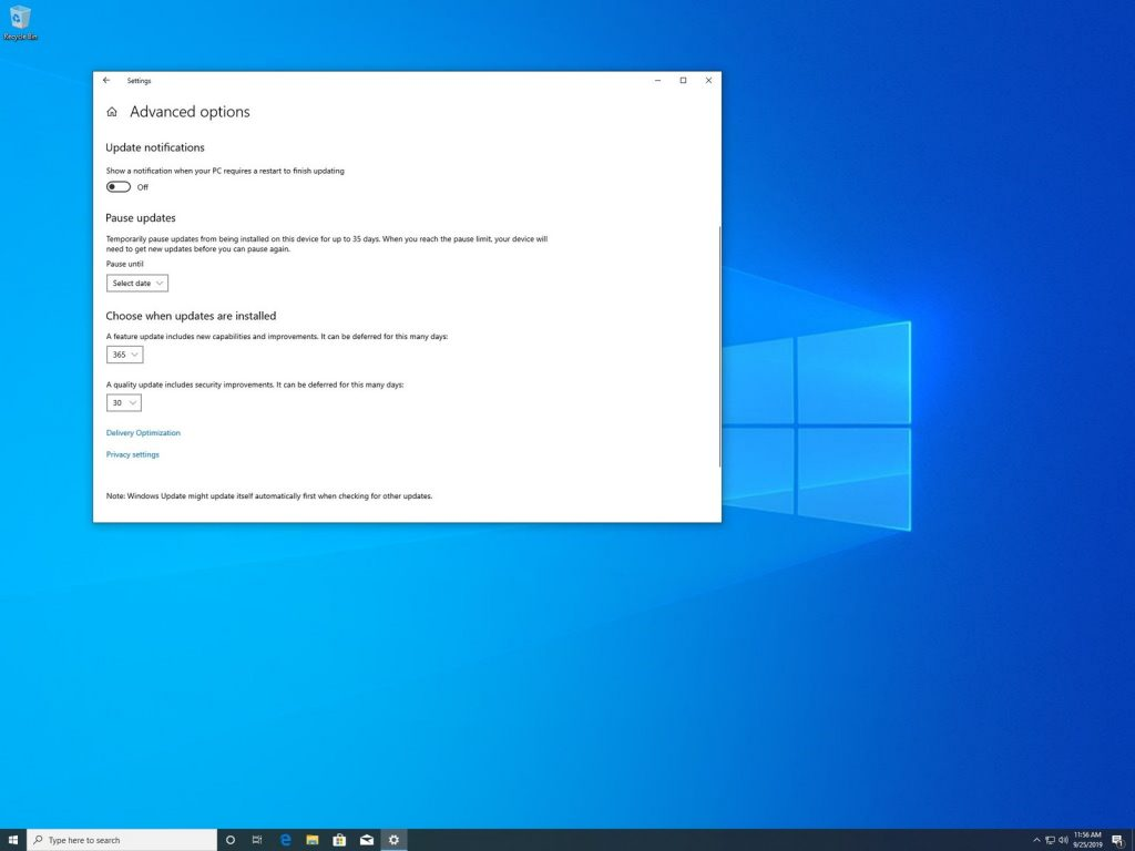 Windows10 Update 2019